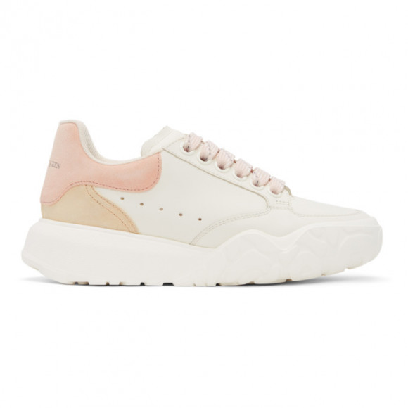 Alexander McQueen White and Pink Court Trainer Sneakers - 657567WIAA1