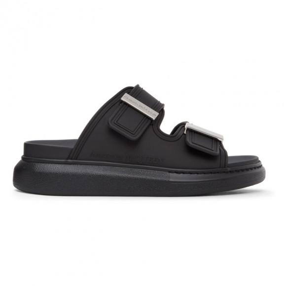 Alexander McQueen Black Rubber Hybrid Slides - 658063W4Q51