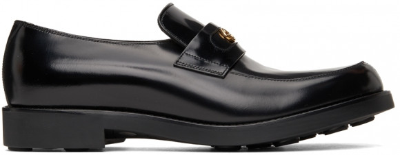 Gucci Black Interlocking G Loafers - 658224-10R30