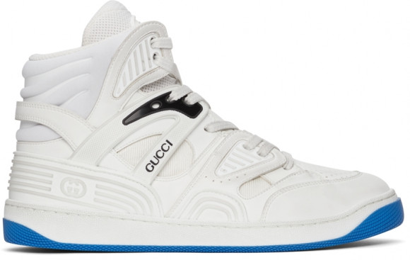 Gucci White Basket High-Top Sneakers - 661301-2SHA0