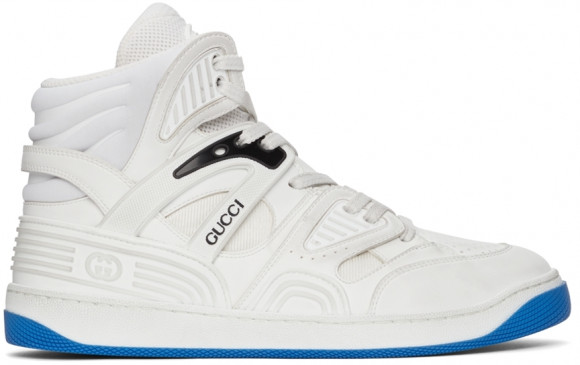 Gucci White Basket High-Top Sneakers - 661310-2SHA0