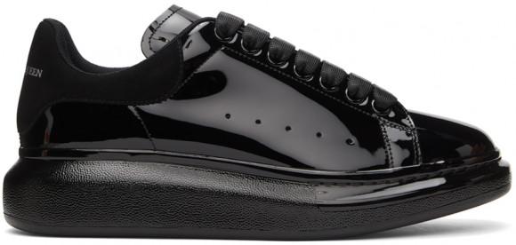 Alexander McQueen Black Patent Oversized Sneakers - 662645WIA33
