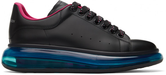 Alexander McQueen Black & Blue Clear Sole Oversized Sneakers - 662657WHYBY