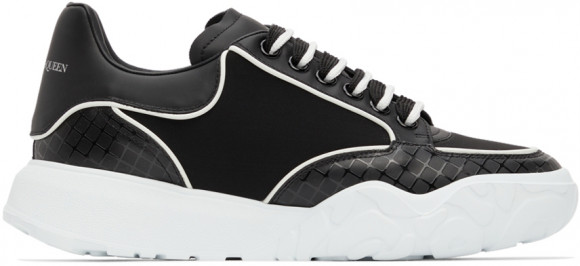Alexander McQueen Black & White Neoprene Court Trainer Sneakers - 667800W4RA1