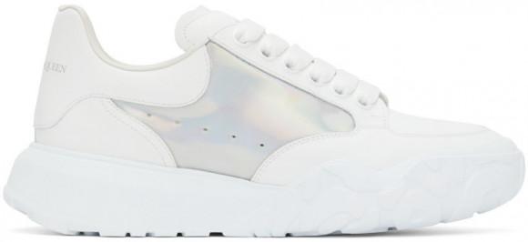 Alexander McQueen White & Silver New Court Sneakers - 667802WIA9L