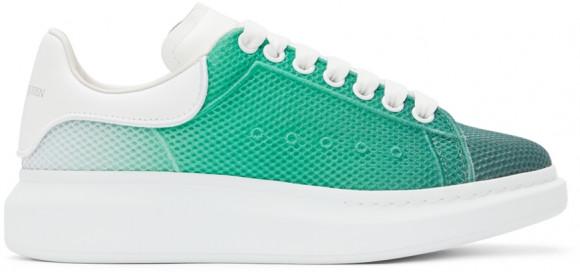 Alexander McQueen Green & White Degradé Oversized Sneakers - 667823WIAFC