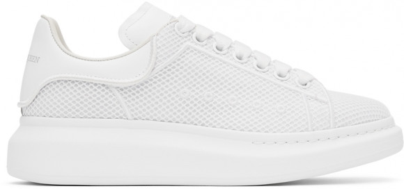 Alexander McQueen White Mesh & Leather Oversized Sneakers - 668700WIAFD