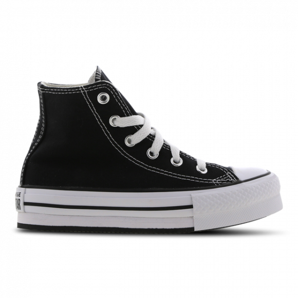Converse Girls Converse All Star Platform HI - Girls' Grade School Shoes Black/White/Black Size 04.0 - 671107C