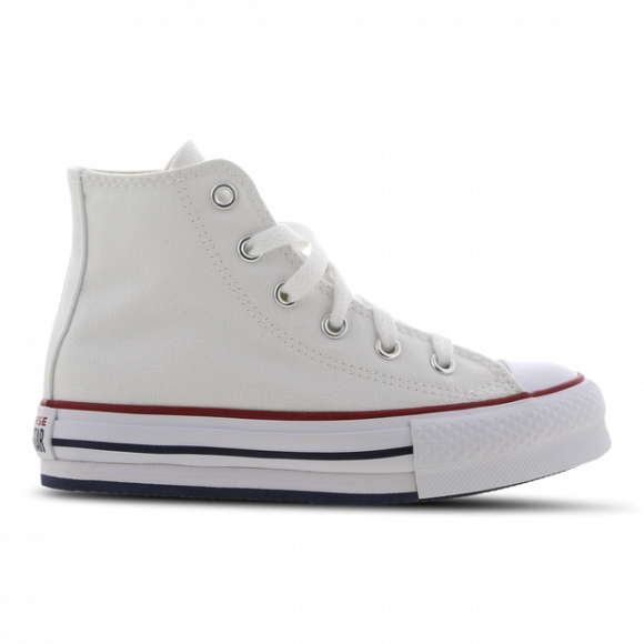 Converse Girls Converse All Star Platform HI - Girls' Grade School Shoes White/Garnet/Midnight Navy Size 04.0 - 671108C