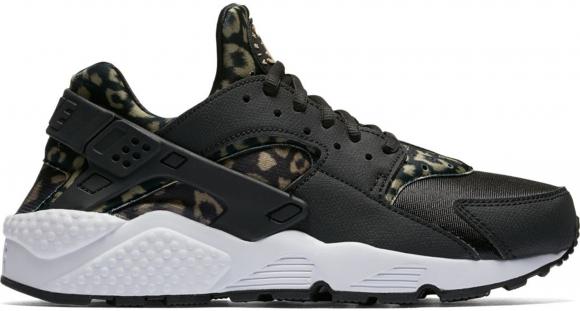 Nike Air Huarache Run Print Leopard Black (W) - 725076-007