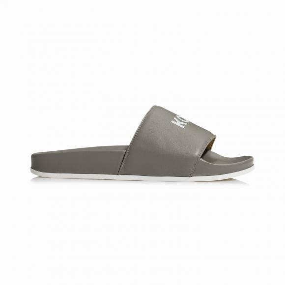 KOIO Men's Slide Grey Sandals Grey Leather Slide 9 (US) / 42 (EU) - 766255595556