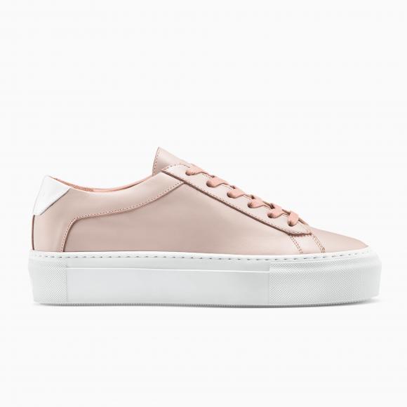 KOIO Women's Platform Sneaker Rosa Pink Leather Platform 10 (US) / 40 (EU) - 778332471332