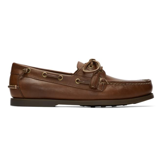 Polo Ralph Lauren Tan Merton Boat Shoes - 803710094004