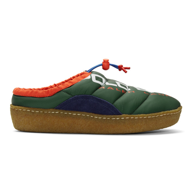 Polo Ralph Lauren Green Polo Sport Myles Puffer Loafers - 803770234002