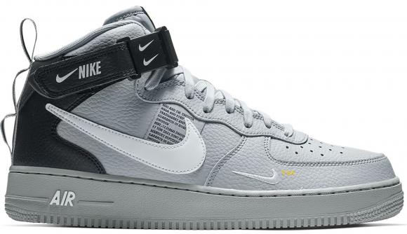 Nike Air Force 1 Mid Utility Wolf Grey Black - 804609-006