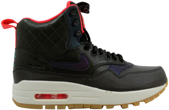 Nike Air Max 1 Mid Sneakerboot Reflect Sequoia/Black-Bright Crimson-Mint (W) - 807307-300