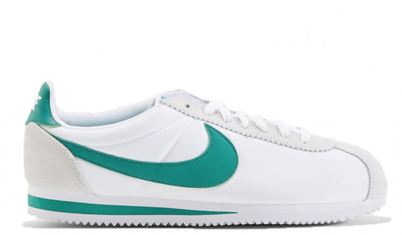 nike cortez green and white