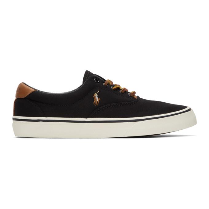 Polo Ralph Lauren Black Thornton Sneakers - 816713106001