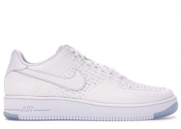 Nike Air Force 1 Flyknit Low White White Ice 817419 100