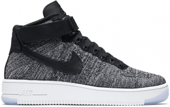 Nike Air Force 1 Mid Flyknit Oreo White - 818018-001