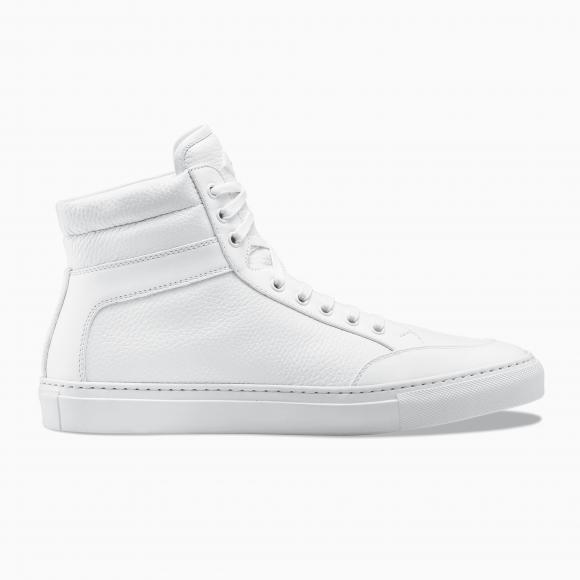 KOIO Men's High Top Triple White White Leather Suede Primo 9 (US) / 42 (EU) - 834036760612