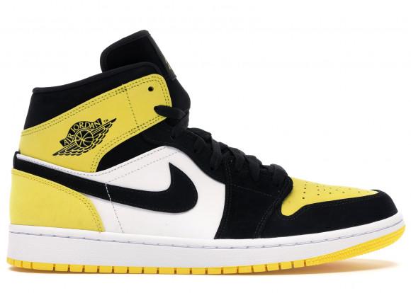 Air Jordan 1 Mid Yellow Toe Black - 852542-071