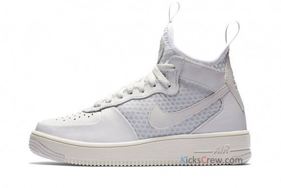 Nike Womens WMNS Air Force 1 Ultraforce Mid White Sneakers/Shoes 864025-100 - 864025-100