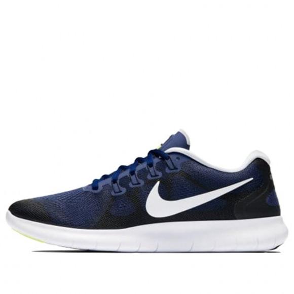 Nike FREE RN 2017 BINARY BLUE/White-Black-VOLT Marathon Running Shoes/Sneakers 880839-405 - 880839-405