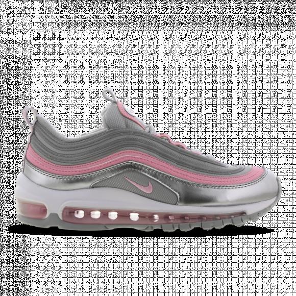 Nike Girls Nike Air Max 97 - Girls' Grade School Shoes Met Silver/Pink/Lt Smoke Grey Size 07.0 - 921522-021