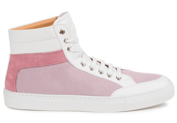 KOIO Women's High Top Fiore Mesh Pink Leather Suede Primo 8 (US) / 38 (EU) - 9309555846