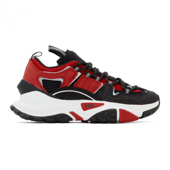 AAPE by A Bathing Ape Black and Red Dimension Sneakers - AAPSHM6540XXDRDB