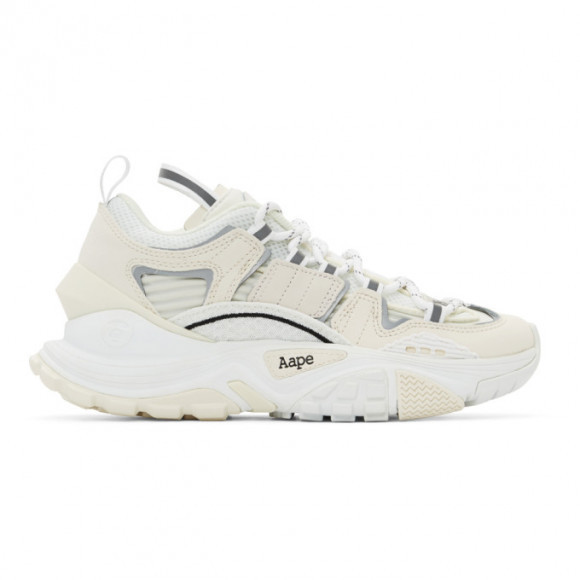 AAPE by A Bathing Ape White and Off-White Dimension Sneakers - AAPSHM6540XXDWHU