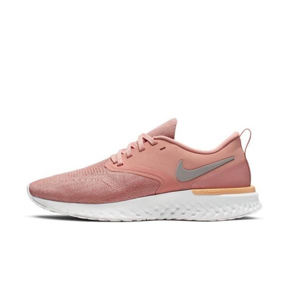 Nike Womens Nike Odyssey React Flyknit 2 - Womens Running Shoes Pink Quartz/Pumice/Platinum Tint Size 7.0 - AH1016-602