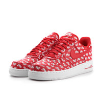 Nike Air Force 1 Low All Over Logo Red