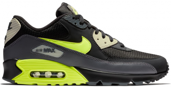 Puntuación Converger Alacena  Nike Air Max 90 Dark Grey Black Volt - AJ1285-015