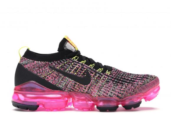 Nike Womens Nike Air VaporMax Flyknit 3 - Womens Running Shoes Black/Black/Pink Blast Size 5.5 - AJ6910-006
