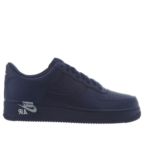 Nike Air Force 1 Low '07 Leather 'Emblem Pack' Blue Void/Blue Void-Vast Grey AJ7280-402 - AJ7280-402