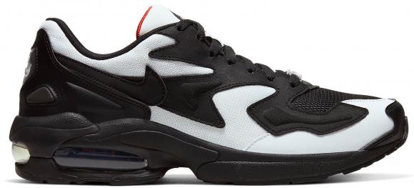 Nike Air Max 2 Light Black White Mesh - AO1741-106