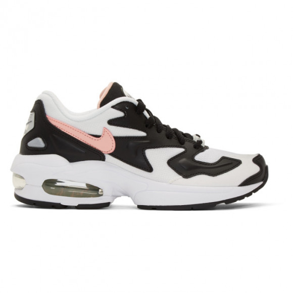 Nike Womens Nike Air Max 2 Light - Womens Shoes White/Bleached Coral/Black Size 05.0 - AO3195-101