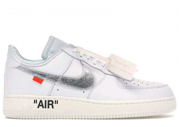 La Off White x Nike Air Force 1 WhiteMetallic Silver