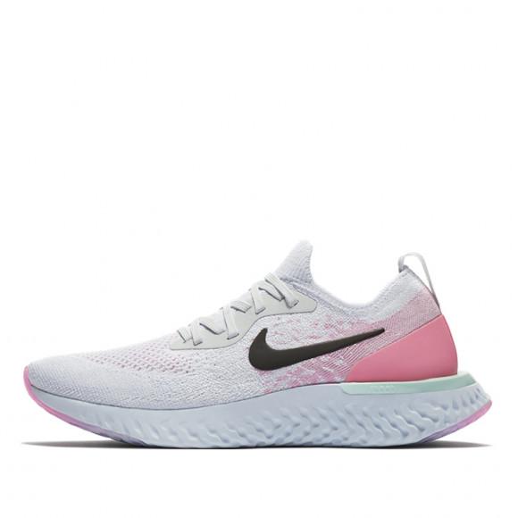 Nike Womens WMNS Epic React Flyknit Pure Platinum Pink Beam AQ0070-007 - AQ0070-007