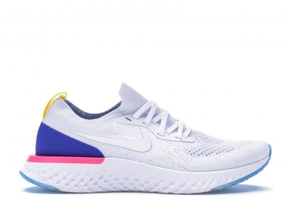 Nike Epic React Flyknit White Racer