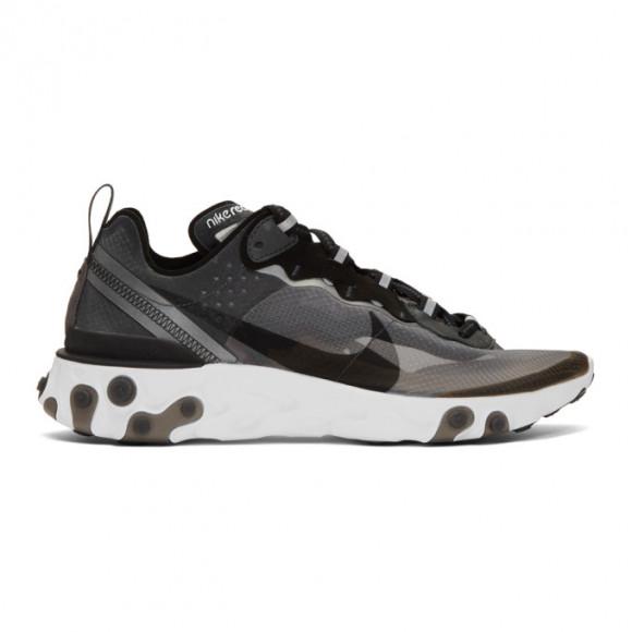 Nike Mens Nike React Element 87 - Mens Shoes Anthracite/Black/White Size 12.0 - AQ1090