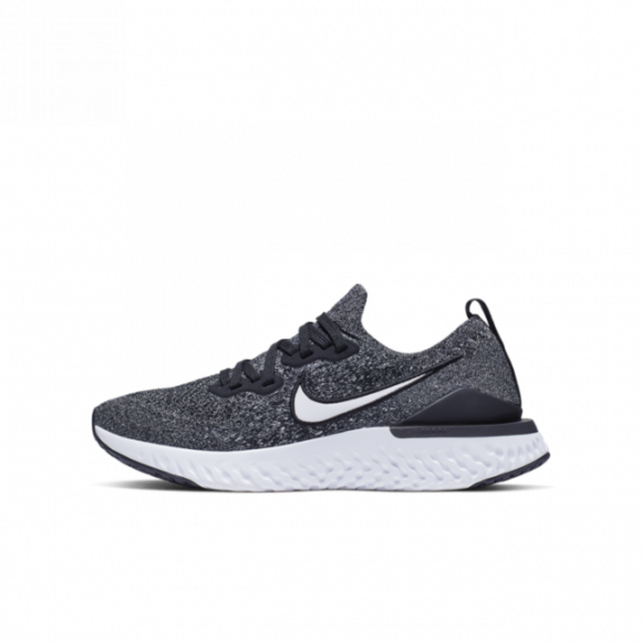 Nike Boys Epic React Flyknit 2 Running Shoes Black/White/White Size 4.5 - AQ3243-001