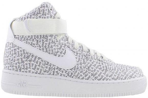 Nike Air Force 1 High Just Do It Pack White Black Aq9648 100