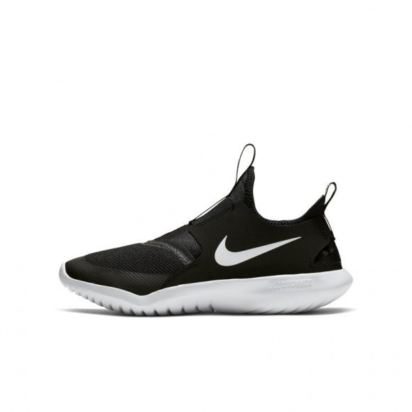 Nike Flex Runner Slip On Athletic Shoe - Big Kid - Black - AT4662-001