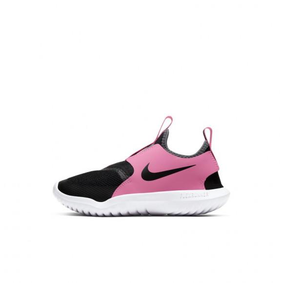 Nike Flex Runner Slip On Athletic Shoe - Little Kid - Pink / Black - AT4663-011