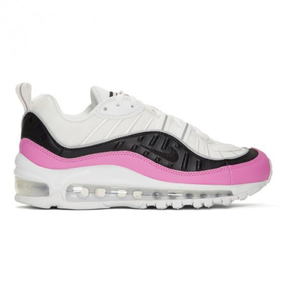 Nike Womens Nike Air Max 98 - Womens Running Shoes White/Black/China Rose Size 6.0 - AT6640-100