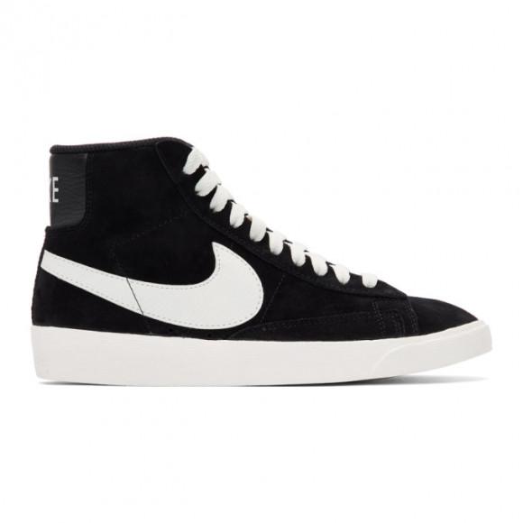 Nike Black Suede Blazer Mid Vintage Sneakers - AV9376-001