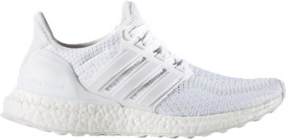 adidas Ultraboost - Boys' Grade School Running Shoes - White / White / White